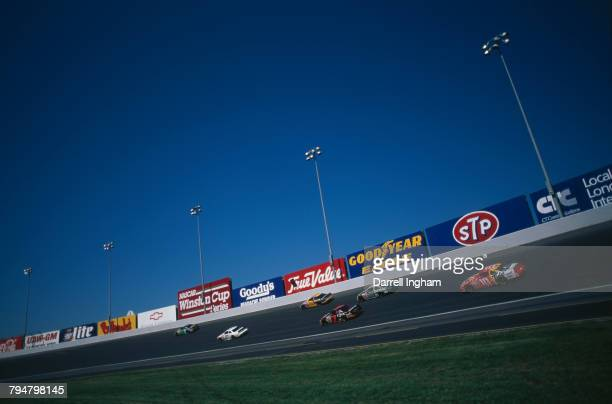 Racing under way in the Nascar Busch Series All Pro Bumper To Bumper 300 at Charlotte Motor Speedway Concord North Carolina 4th October 1997