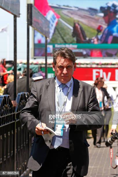 Racing Victoria Chief Steward Terry Bailey in the mounting yard on 2017 Oaks Day at Flemington Racecourse on November 9 2017 in Melbourne Australia