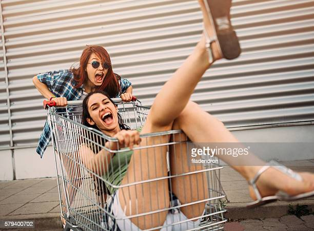Racing with a shopping cart