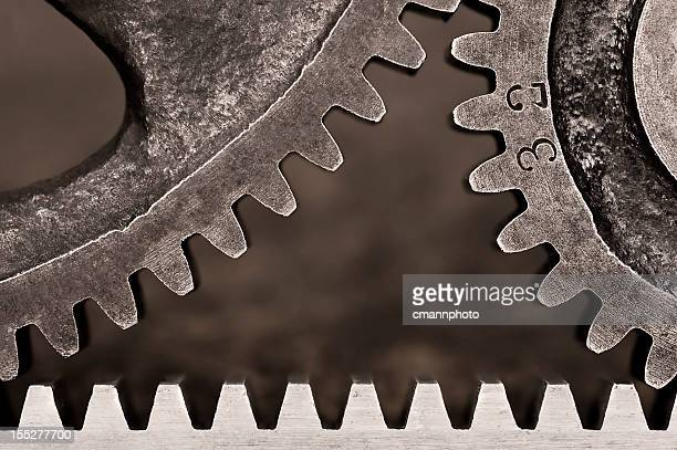 rack gear with multi-size gears - cmannphoto stock pictures, royalty-free photos & images