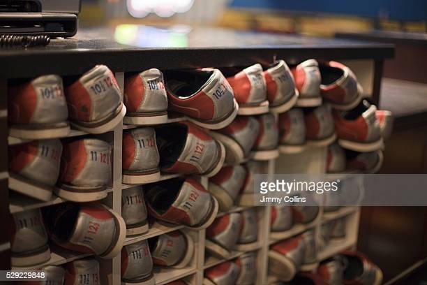 Rack of Bowling Shoes