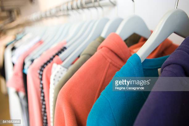 Rack of Clothing in Store