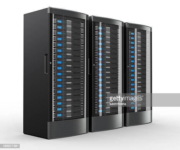 rack de servidores de alto desempenho - servidor de rede - fotografias e filmes do acervo