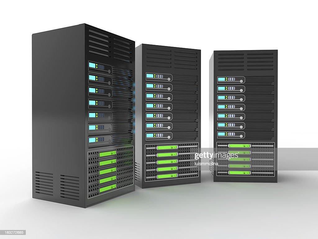 Rack of High Performance Servers : Stock Photo