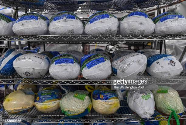 A rack of turkeys waiting to be deboned at the Meat Plant within the Maryland Correctional Institution on November 18 2019 in Hagerstown Md The 250...