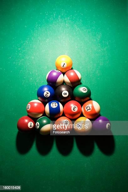 Racked Pool Balls