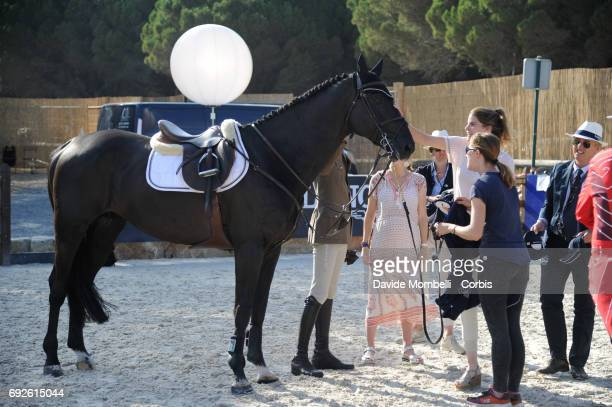 Rackham 'Jo and Athina Onassis backstage during the Longines Grand Prix Athina Onassis Horse Show on June 3 2017 in St Tropez France