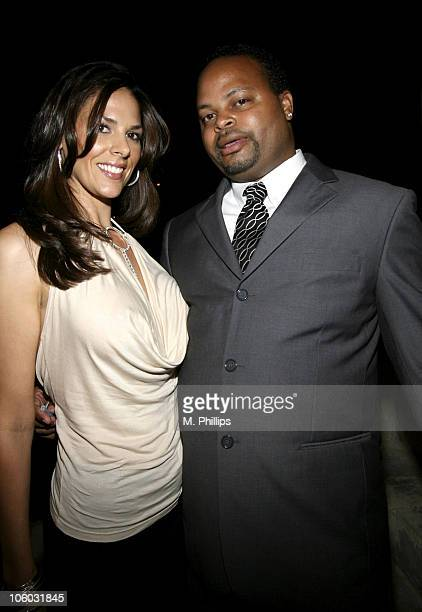 Racquel Lopez and Cary Lewis during Last Chance for Animals Fundraiser at Private in Beverly Hills CA United States