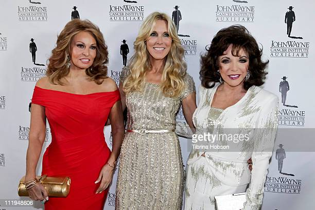 Racquel Welch Alana Stewart and Joan Collins arrive at The Beverly Hilton hotel for the John Wayne Cancer Institute's 26th Annual Odyssey Ball on...