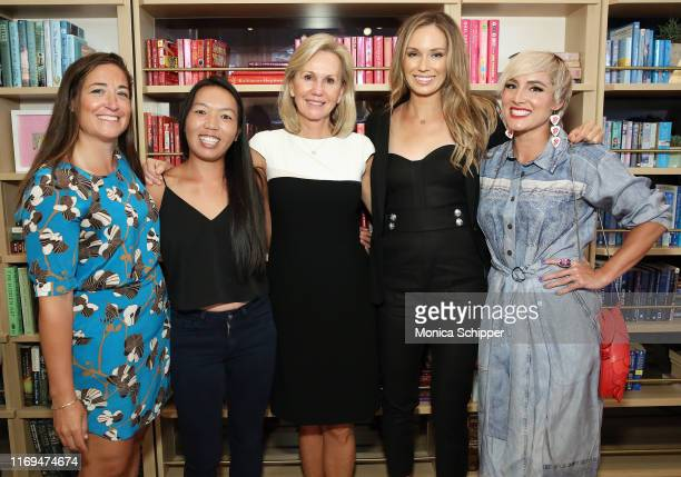 Racquet magazine cofounder and event moderator Caitlin Thompson professional WTA player Vania King president of the Women's Tennis Association Micky...
