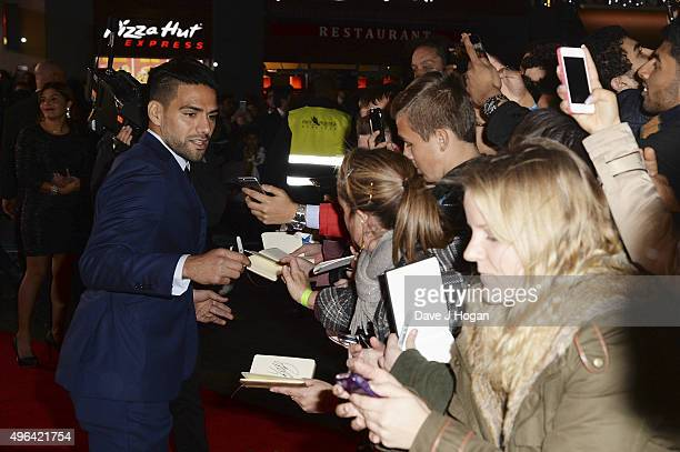 Radamel Falcao attends the World Premiere of 'Ronaldo' at Vue West End on November 9 2015 in London England