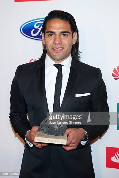Radamel Falcao Garcia attends As del Deporte awards 2012 at Palace Hotel on December 10 2012 in Madrid Spain