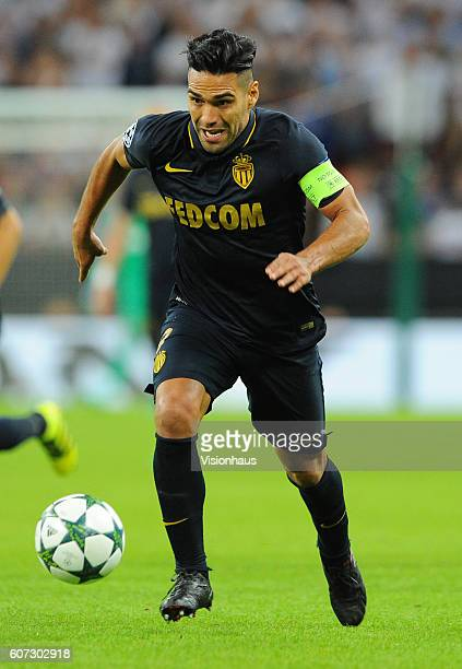 Radamel Falcao of AS Monaco during the UEFA Champions League match between Tottenham Hotspur FC and AS Monaco FC at Wembley Stadium on September 14...