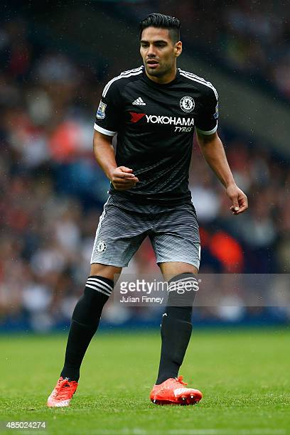 Radamel Falcao of Chelsea looks on during the Barclays Premier League match between West Bromwich Albion and Chelsea at the Hawthorns on August 23...