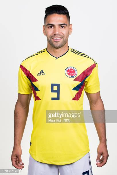 Radamel Falcao of Colombia poses for a portrait during the official FIFA World Cup 2018 portrait session at Kazan Ski Resort on June 13 2018 in Kazan...