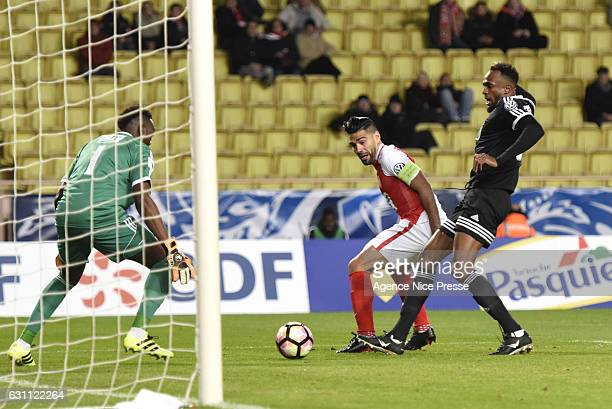 Radamel Falcao of Monaco during the French National Cup match between AS Monaco and AC Ajaccio at Louis II Stadium on January 6 2017 in Monaco Monaco