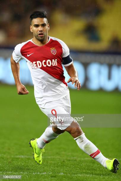 Radamel Falcao of Monaco during the Group A match of the UEFA Champions League between AS Monaco and Club Brugge at Stade Louis II on November 06...