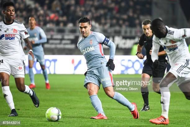 Radamel Falcao of Monaco during the Ligue 1 match between Amiens SC and AS Monaco at Stade de la Licorne on November 17 2017 in Amiens