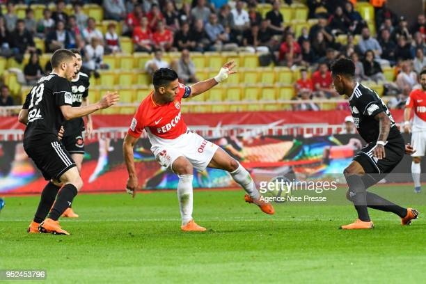 Radamel Falcao of Monaco during the Ligue 1 match between AS Monaco and Amiens SC at Stade Louis II on April 28 2018 in Monaco