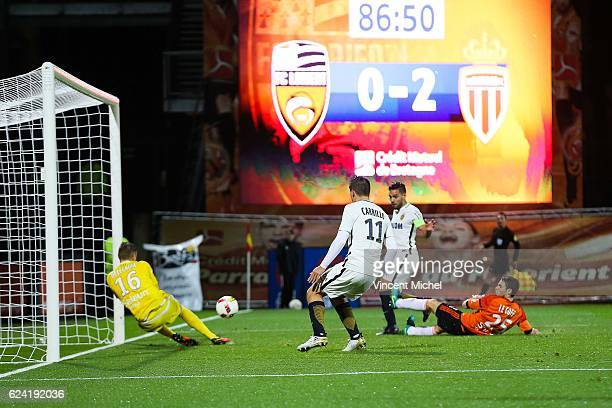 Radamel Falcao of Monaco during the Ligue 1 match between Fc Lorient and As Monaco at Stade du Moustoir on November 18 2016 in Lorient France