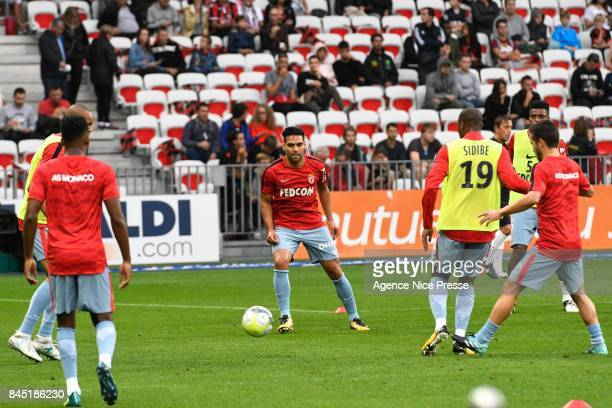 Radamel Falcao of Monaco during the Ligue 1 match between OGC Nice and AS Monaco at Allianz Riviera on September 9 2017 in Nice