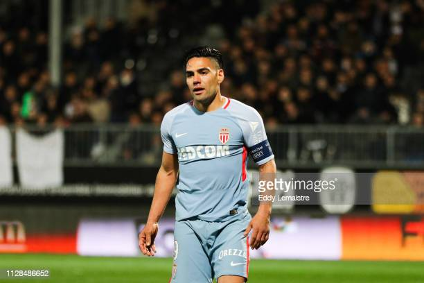 Radamel Falcao of Monaco during the Ligue 1 match between SCO Angers and AS Monaco on March 2, 2019 in Angers, France.