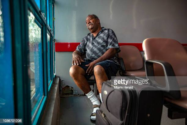 Radames Cabral Trinidad waits at Antonio Rivera Rodriguez Airport on the island of Vieques Puerto Rico for a plane that will take him to Fresenius...