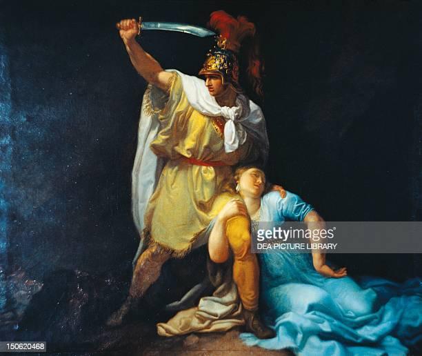 Radamisto kills Zenobia by Luigi Sabatelli oil on canvas 125x145 cm Armenian kingdom 1st century