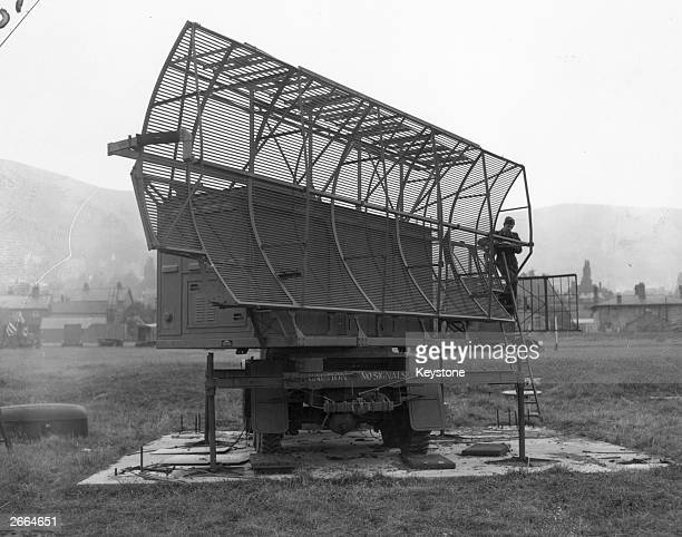 A radar aerial used by the Royal Airforce for finding the height of aircraft