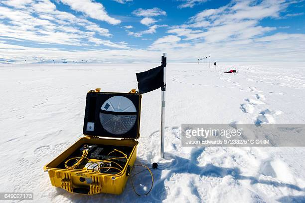Radar mapping equipment used to measure the ice thickness of the Ross Ice Shelf
