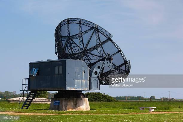 radar museum w/ww2-era german radar installation - d day stock pictures, royalty-free photos & images