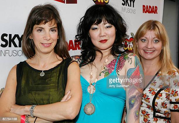 Radar publisher Anne Perton comedian Margaret Cho and vice president of consumer marketing for VH1 Wendy WeatherfordMark attend a screening of...