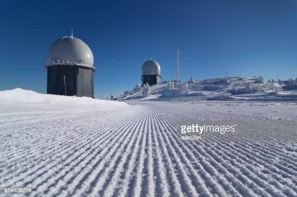 Radar radome stations, Great Arber, Bavarian Forest , Bavaria, Germany