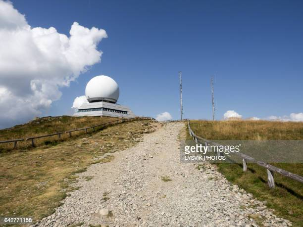 Radar station at the summit of the Grand Ballon mountain, Alsace
