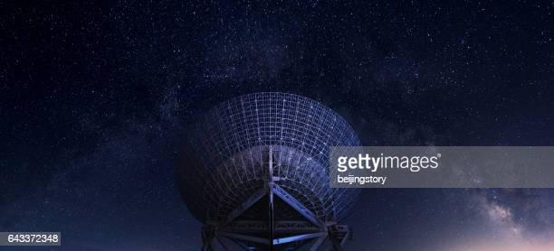 radar station under milky way