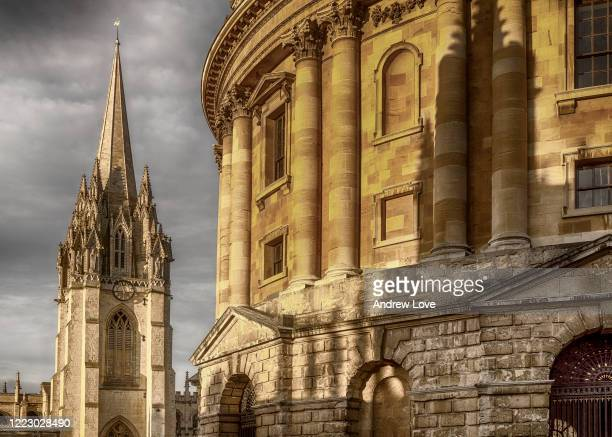radcliffe camera and university church of st mary the virgin - history stock pictures, royalty-free photos & images