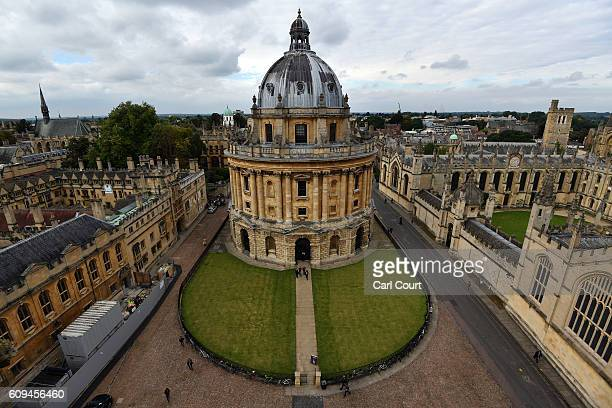 Radcliffe Camera is pictured on September 20 2016 in Oxford England Oxford University has taken number one position in the 20162017 world university...