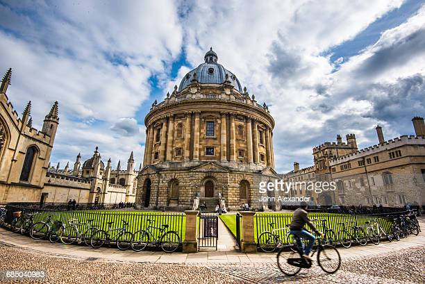 Radcliffe Camera with cyclist, Oxford, Oxfordshire