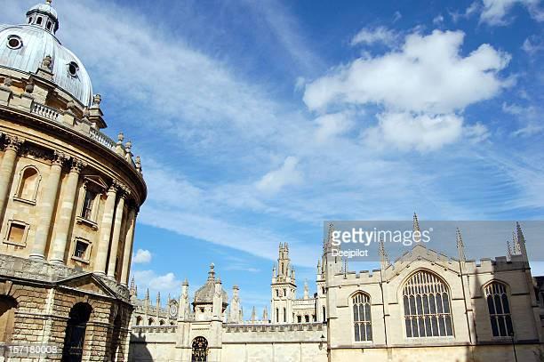 Radcliffe Square and All Souls College in Oxford UK