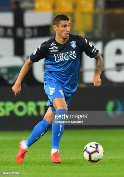 Rade Krunic of Empoli FC controls the ball during the Serie A match between Parma Calcio and Empoli at Stadio Ennio Tardini on September 30 2018 in...