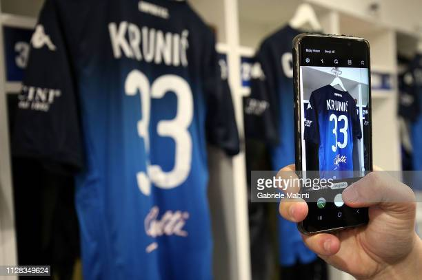 Rade Krunic of Empoli FC jersey during the Serie A match between Empoli and Parma Calcio at Stadio Carlo Castellani on March 2 2019 in Empoli Italy