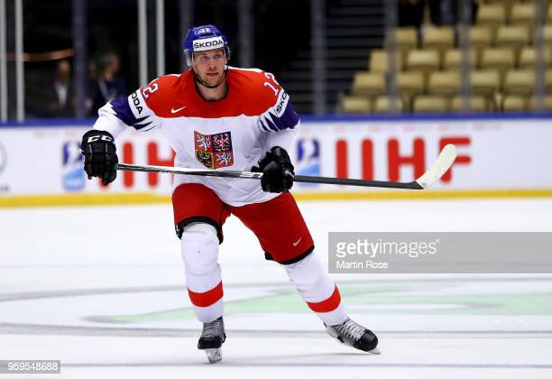 Radek Faksa of Czech Republic skates against the United States during the 2018 IIHF Ice Hockey World Championship Quarter Final game between United...