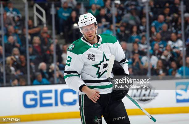 Radek Faksa of the Dallas Stars looks on during the game against the San Jose Sharks at SAP Center on February 18 2018 in San Jose California