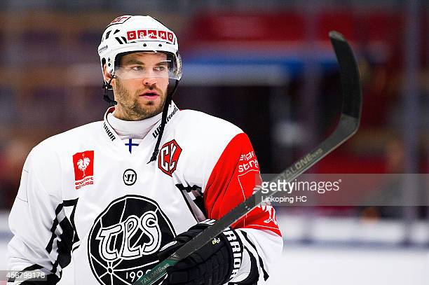 Radek Smolenak during the Champions Hockey League group stage game between Linkoping HC and TPS Turku on October 7 2014 in Linkoping Sweden