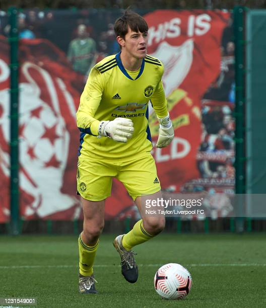 Radek Vitek of Manchester United in action during the U18 Premier League game between Liverpool and Manchester United at AXA Training Centre on March...