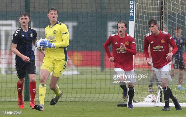 Radek Vitek of Manchester United U18s in action during the U18 Premier League match between Manchester United U18s and Middlesbrough U18s at Aon...