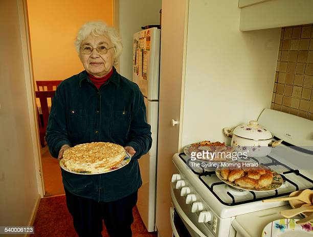 Radema Feldman in the kitchen of her Randwick apartment with her Napoleon cake made by her for special occasions 19 June 2006 SMH Picture by MARCO...
