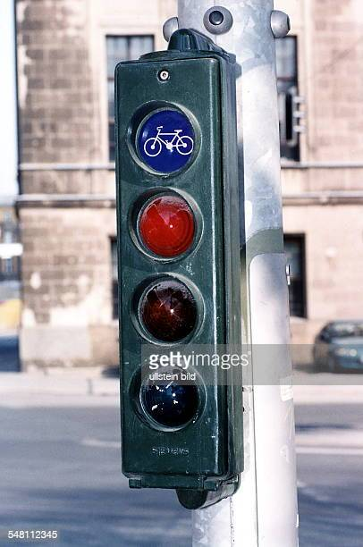 Radfahrerampel zeigt Rot