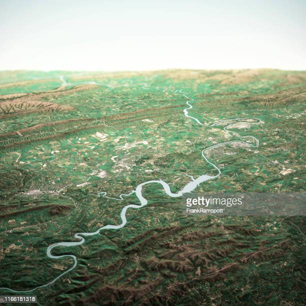 radford virginia 3d render horizon aerial view from south apr 2019 - frank ramspott stock pictures, royalty-free photos & images