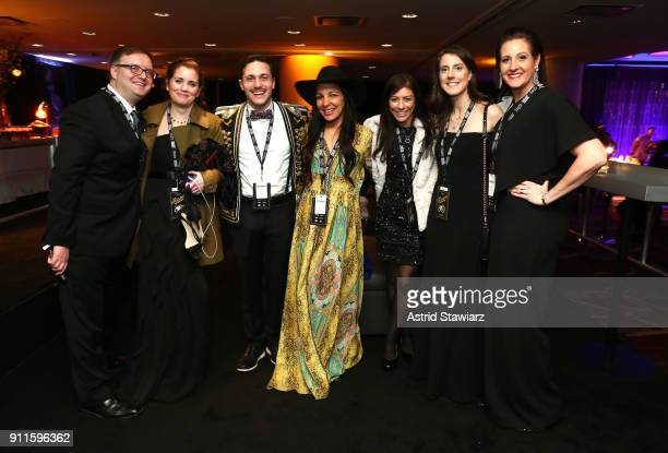 Radha Agrawal Eli PlarkDavis and guests attend the 60th Annual GRAMMY Awards Celebration at Marriott Marquis Hotel on January 28 2018 in New York City